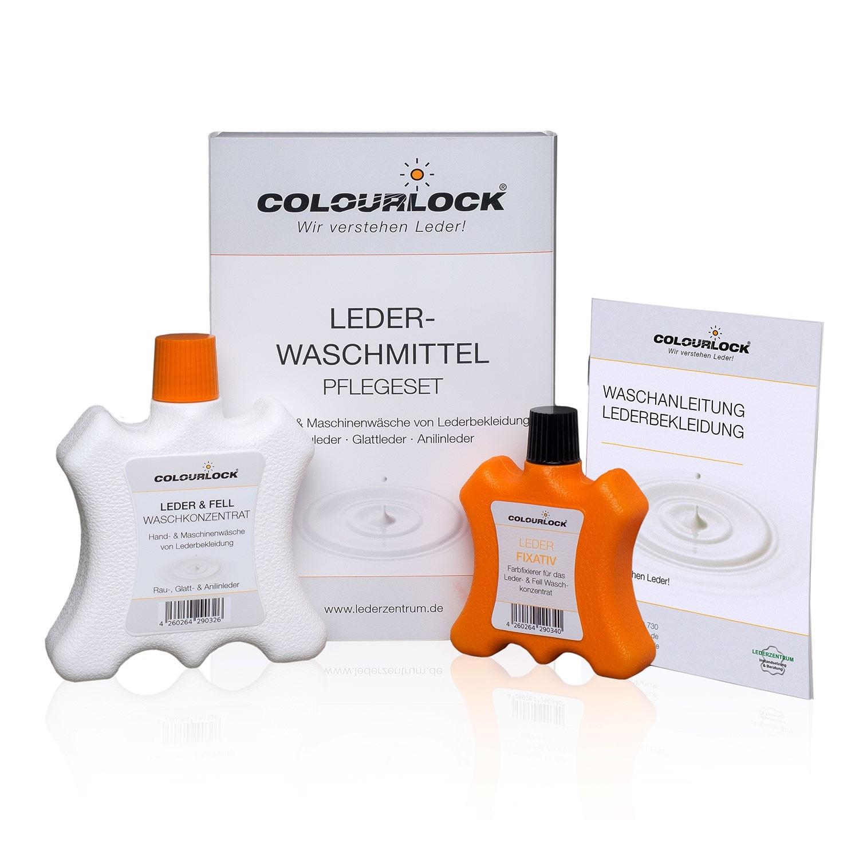 COLOURLOCK Lederwaschmittel, 250 ml + Farbfixierung, 100 ml (Set)