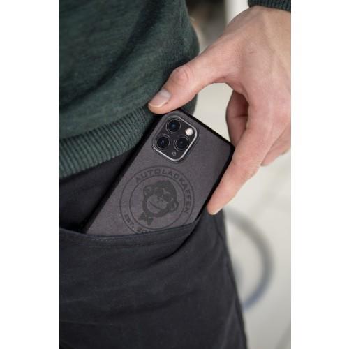 Autolackaffen Alcantara Smartphone Cover Handyschutzhülle anthrazit - für viele Modelle lieferbar
